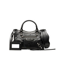 Balenciaga Classic Silver Mini City Black - Women's Classic New Mini City Handbags