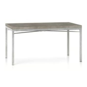 Concrete Top/ Zinc X-Base 60x36 Dining Table