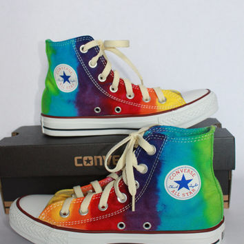 Tie dye Converse All Star Chuck Taylor shoes high top low top custom