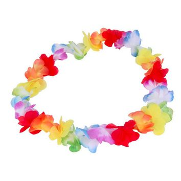 1pc Colorful Flower Garlands Hawaiian/Tropical Party Fancy Dress Necklace 2017 New Arrival Circumference 96cm