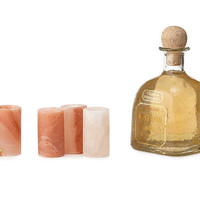 HIMALAYAN SALT TEQUILA GLASSES- SET OF 4 | Shot Glasses, Margaritas, Unusual Unique Barware, Whiskey | UncommonGoods