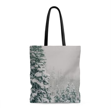 Winder Wonderland Shopping Tote with Liner - 3 Sizes