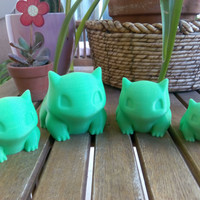 Pokemon Bulbasaur Planter printed 3D Different Sizes. Special Price for Light green!!
