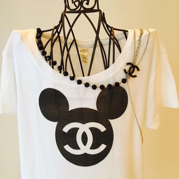 shop chanel t shirt on wanelo