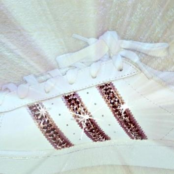 Women's Adidas Original Superstar Hand Painted with SWAROVSKI? Xirius Rose Gold Crysta