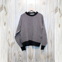 Vintage Striped Black & White Sweater