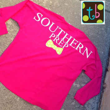 Southern Prep Monogrammed Personalized Game Day Jersey Spirit Jersey