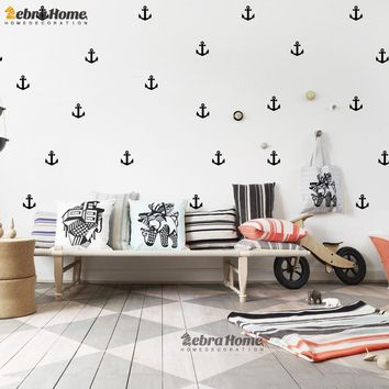 Little Anchor Wall Sticker DIY Baby Nursery Rooms Home Decor Art Removable Vinyl Mural Wallpaper For Kids Bedroom