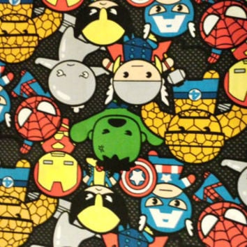 Marvel Kawaii Cotton Fabric From Kindergeschenke On Etsy