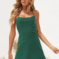 Minimalist Dress (Forest Green)