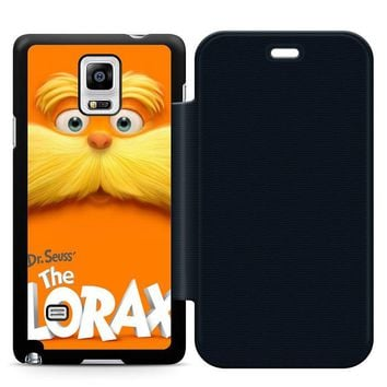 Dr Seuss Lorax Face Leather Wallet Flip Case Samsung Galaxy Note 4