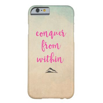 Inspirational Typography Quote on Determination Barely There iPhone 6 Case