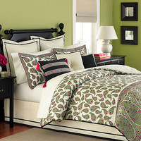 Swanky Outlet — Martha Stewart 6 Piece Paisley Flourish King Comforter Set NEW (Cleara