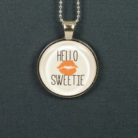 Hello Sweetie Necklace - Doctor Who - Photo Jewelry