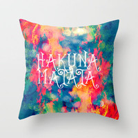 Hakuna Matata Painted Clouds Throw Pillow by Caleb Troy | Society6