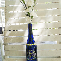 decorative vase bottle henna art handpainted
