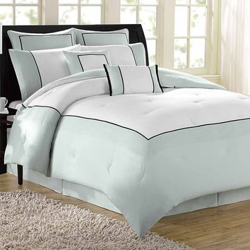 Soho New York Home Hotel 8-pc. Comforter Set - Queen (Grey)