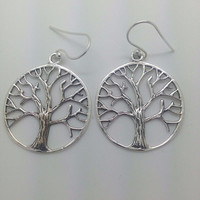 Classic Tree of life Earrings Sterling silver 925 flower of life celtic symbol