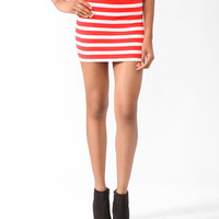 Essential Striped Bodycon Skirt