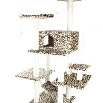 "70"" Cat Tree Condo Furniture Scratch Post Pet House 11L"