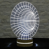 Home Decor, Office Decor, Tunnel Shape, 3D LED Lamp, Acrylic Lamp, Amazing Effect, Art of Light, Nursery Light, Artistic Lamp, Table Light