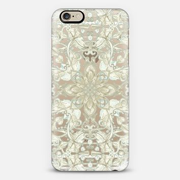 Vintage Cream & Neutrals Floral Garden Pattern on Transparent iPhone 6 case by Micklyn Le Feuvre | Casetify