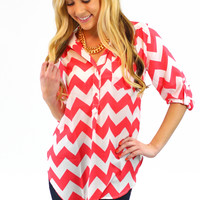 Don't Kill My Vibe Blouse - Coral