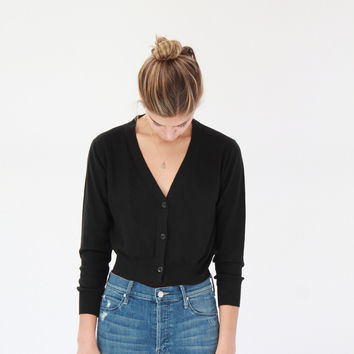 Lina Rennell Knit Cardigan Black