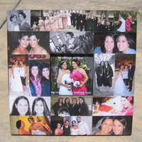 """Personalized Maid of Honor Collage Picture Frame, Custom Wedding, Anniversary Frame, 12"""" x 12"""""""