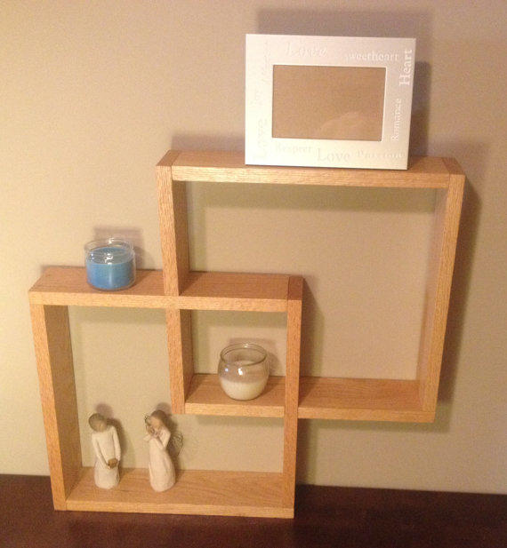 Oak Shadow Box Knick Knack Wall Shelf From Palmetto Furniture