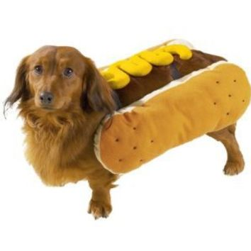 Casual Canine Hot Diggity Dog Mustard Costume, Small