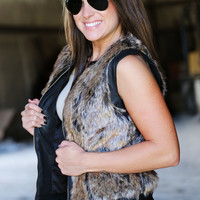 Leather + Fur Vest