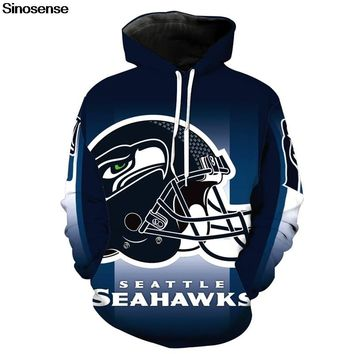 Eur Size Seattle Seahawks Hoodies Men Women Autumn Winter Long Sleeve Hoodie Sweatshirt 2019 Tracksuit 3D Clothes Pullover Tops