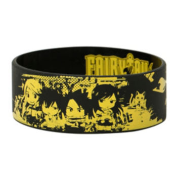 Fairy Tail Chibi Group Rubber Bracelet