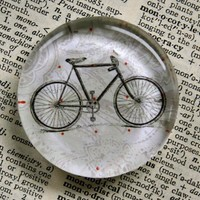 Bicycle Jumbo Glass Magnet by CrowBiz on Etsy