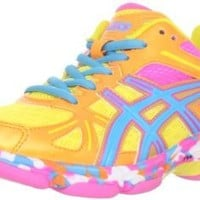 ASICS Women's GEL-Flashpoint Volleyball Shoe,Black/Neon Yellow/Hot Pink,8.5 M US