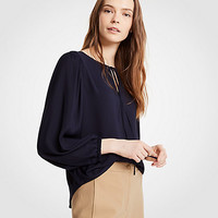 Shirred Shoulder Blouse | Ann Taylor