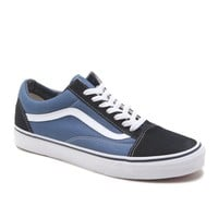 Vans Old Skool Checkerboard Shoes - Mens Shoes - Blue