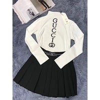 GUCCI x NY Women Long Sleeve Top Skirt Two-Piece