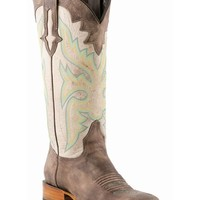 Lucchese Women's Sanded Café Burnished Horseman Boot