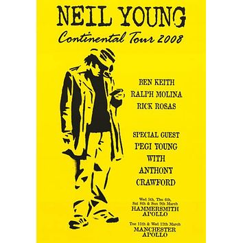 Neil Young Continental Tour 2008 Poster 24x34
