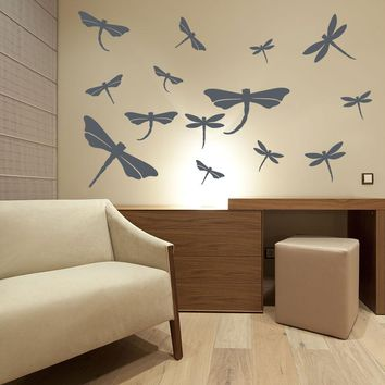Dragonfly Decal Wall Decal Set
