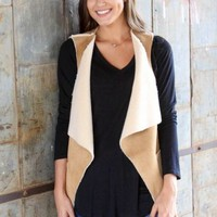 All Curled Up Shearling Vest