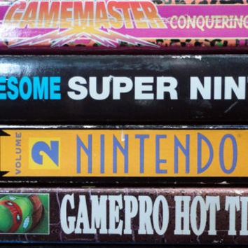 vintage book SNES NES Nintendo Game Pro Tips Book Lot