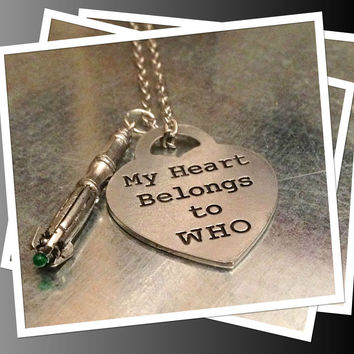 Exclusive Sci Fi Tool and Heart Necklace