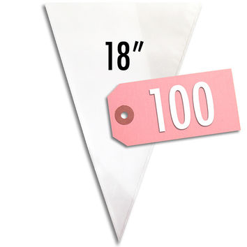 "18"" Disposable Decorating Bags - 100"