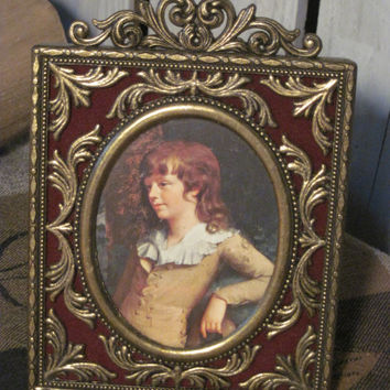 Vintage Brass Picture Frame, Made in Italy