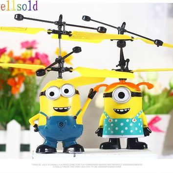 Ewellsold 2pcs New Sensor Flying RC Helicopter Flying Fairy RC Helicopter Plane Kids Toy funny Gift Free shipping