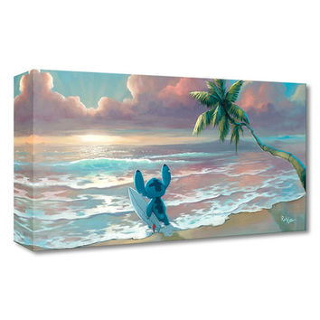 Stitch Waiting for Waves Limited Edition Wrapped Canvas