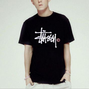 CREYV9O stussy Fashion Casual print pullover T-shirt top blouse Tee